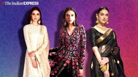 Aditi Rao Hydari, Aditi Rao Hydari photos, Aditi Rao Hydari ethnic wear indian wear photos, Aditi Rao Hydari royal family, indian express news