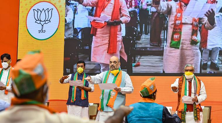 amit shah, amit shah Bihar rally, amit shah rally, bjp Bihar rally, bihar elections, bjp bihar elections, rjd, indian express news
