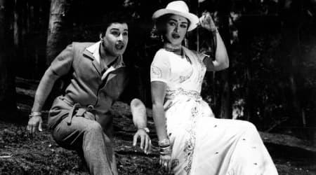 MGR and B Saroja Devi