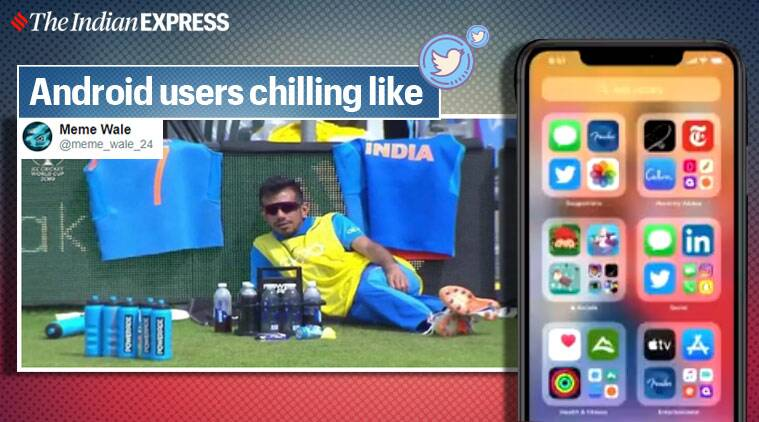 Apple iPhone, iphone, iOS 14 memes, iOS 14 updates meme, Apple iOS-14, Worldwide Developers Conference, WWDC, Tech news, Trending news, Indian Express news