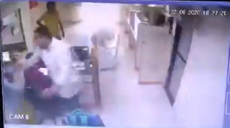 Surat bank staff assaulted, sham surat police, surat police, surat bank assault, sitharaman on surat bank assault