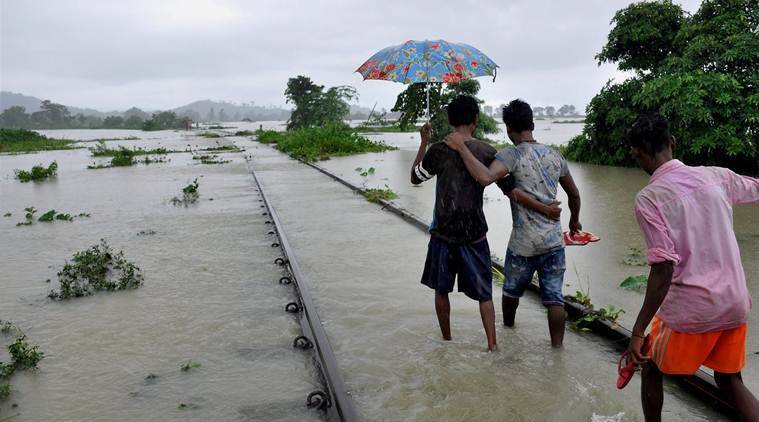 Assam, Assam floods, Arunachal pradesh flood news,  Assam weather, Arunachal pradesh rain news, Assam floods army, Indian express