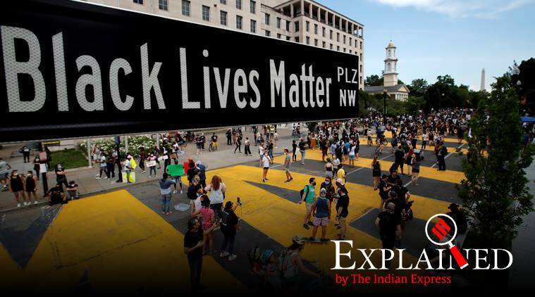 express explained, black lives matter, george floyd, racism, george floyd funeral, pearland, us protests, george floyd protests, indian express