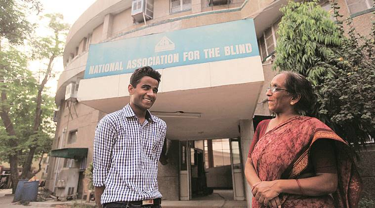 blind children institution, corporate contributions, donations down, Delhi news, Indian express news
