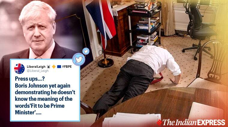 British PM Boris Johnson does push-ups to show COVID-19 recovery