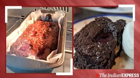 brownie recipe, midnight cravings, Peanut Butter and Jelly Brownies, easy recipes, vanilla ice cream recipe, indianexpress.com, indianexpress, baking adventures, anahita dhondy, DIY brownie,