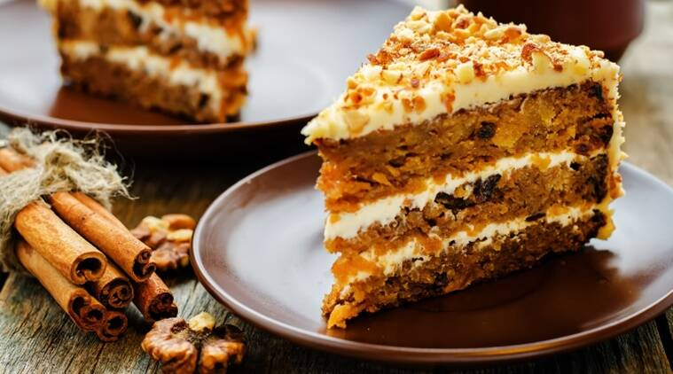 carrot cake, easy carrot cake, cake recipes, indianexpress.com, indianexpress, easy recipes, how to make carrot, carrot recipes, dessert recipes,