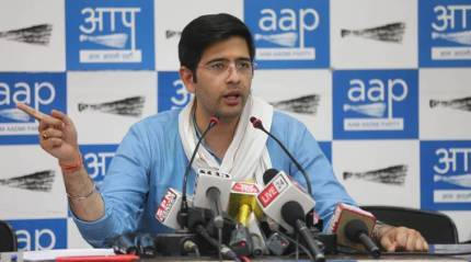 Coronavirus isolation rules, Raghav Chadha, Aam Aadmi Party, Delhi news, indian express news