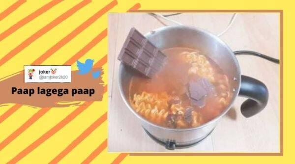 Chocolate Maggi, Maggi noodles, Instant noodles, Chocolate, Maggi noodles with chocolate, Weird food combination, Bizarre fusion food, Trending news, Indian Express news