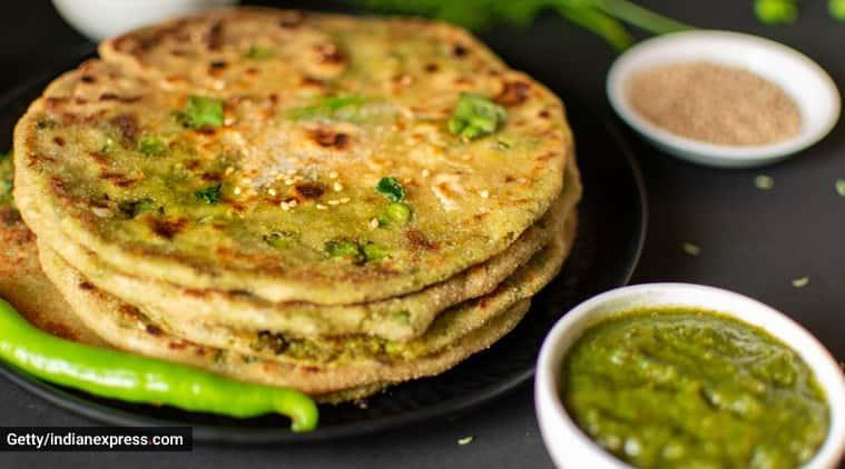 parantha recipes, easy recipes, chutney parantha, kabitaskitchen, indianexpress.com, indianexpress,