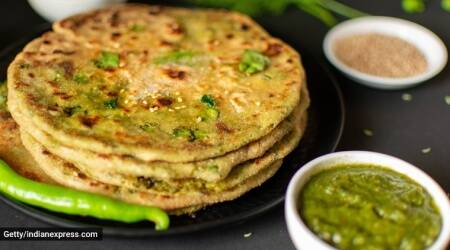 parantha recipes, easy recipes, chutney parantha, kabitaskitchen, indianexpress.com, indianexpress,