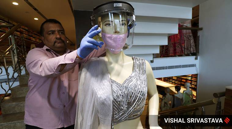 wedding, indian wedding, mask wedding matching lehenga, wedding in india post covid 19, coronavirus death, indian express