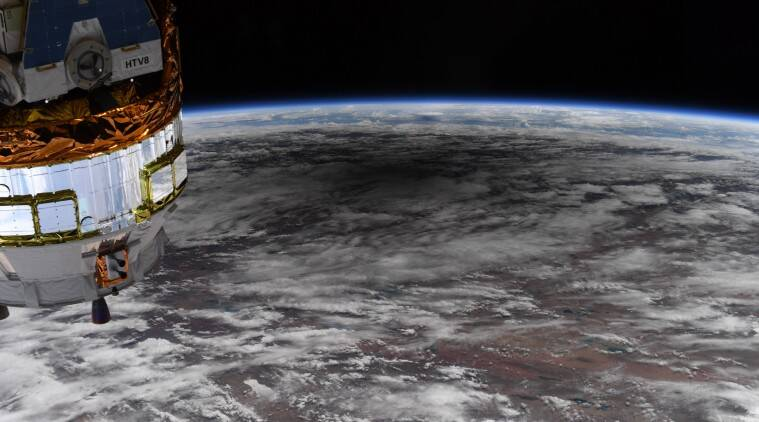 A shadow travels across Earth: This is how solar eclipse looks from space