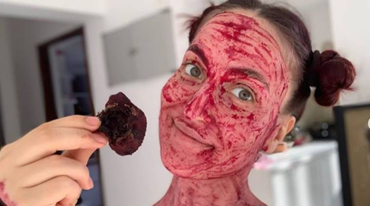 elli avrram, beetroot mask