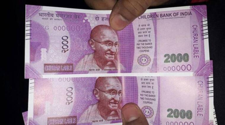 fake currency, fake currency seize, childrens bank of india notes seized, fake money racket, dummy cash seize, pune police, indian express news