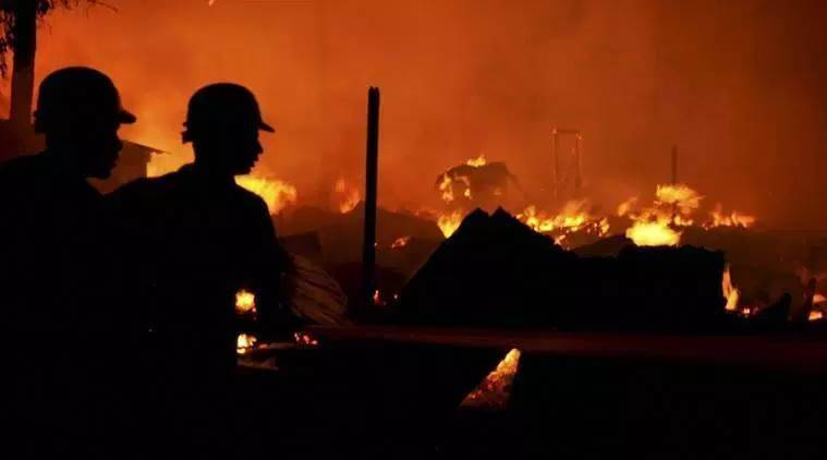 gujarat rubber factory, gujarat rubber factory fire, gujarat rubber factory labourers, gujarat rubber factory fire casualties, indian express news