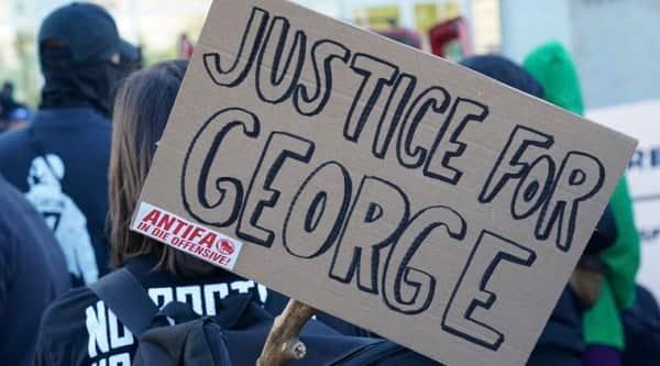 george floyd, US racism, Germany protest, minneapolis