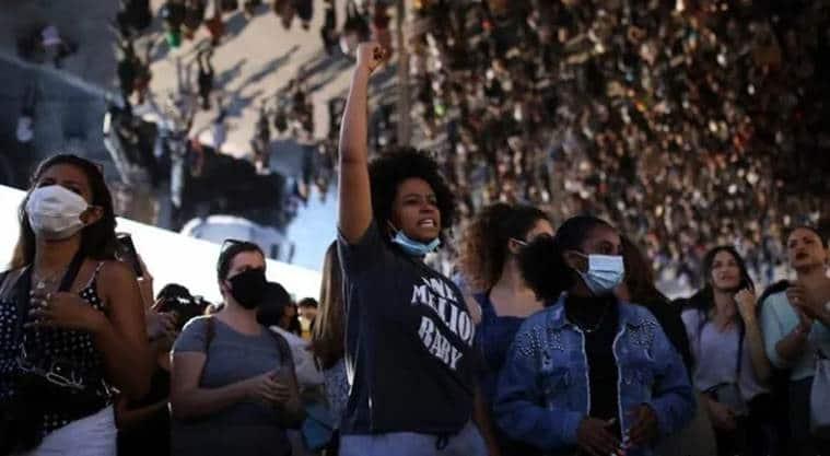 racism, george floyd, george floyd death, racism news, black life matters protests, george floyd protest, george floyd protests world, us protests, indian express