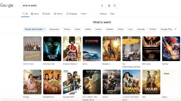 google search, what to watch, where to watch, best films, best movies, best shows, what to see