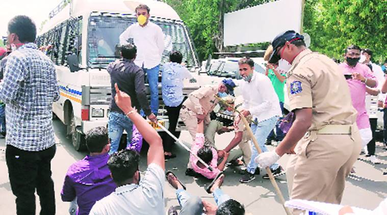 Congress leaders, workers protest over rising fuel prices, detained