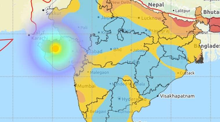 Gujarat earthquake, Gujarat earthquake news, Rajkot earthquake, Gujarat rajkot earthquake, Gujarat 5.5 earthquake, gujarat news