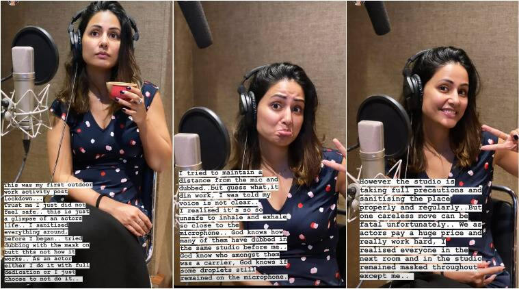 Hina Khan dubs for upcoming film Unlock