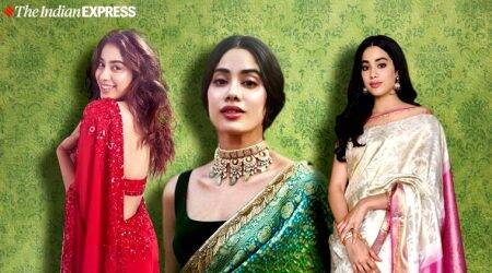 Janhvi Kapoor, Janhvi Kapoor manish malhotra saris, Janhvi Kapoor manish malhotra saris, indian express, indian express news