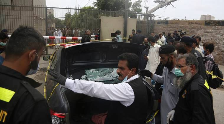 pakistan stock exchange terrorist attack karachi