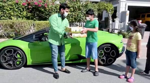 Mangoes -delivered Lamborghini Dubai trending viral video, trending, indian express, indian express news