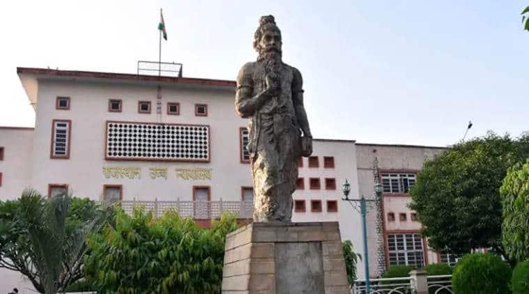 rajasthan high court, statue of manu, manu statue, rajasthan hc Manu statue, indian express