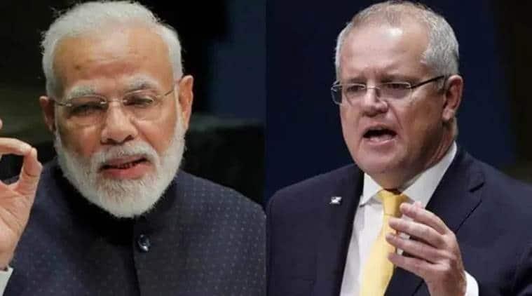 modi-morrison virtual summit, virtual summit, narendra modi scott morrison virtual summit, indian express