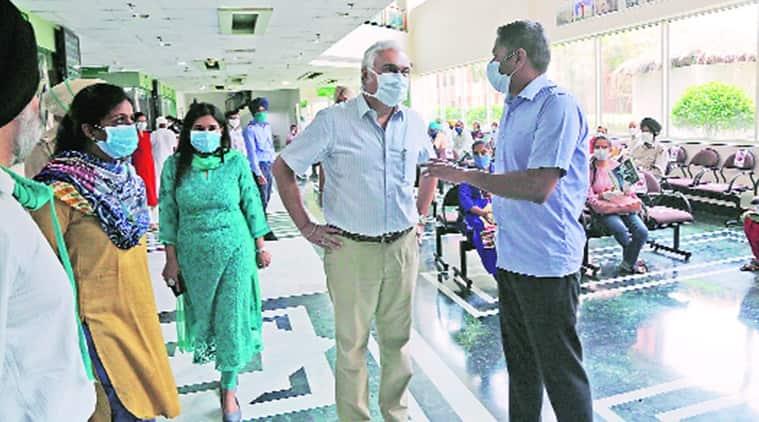 mohali coronavirus, fortis hospital, fortis mohali corona, surprise check mohali fortis