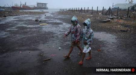 Cyclone Nisarga, Cyclone Nisarga Mumbai, Mumbai rains, Mumbai air quality, Mumbai news, city news, Indian Express