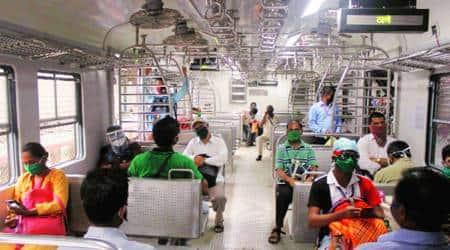Mumbai local trains, MNS leaders protest, Mumbai news, Maharashtra news, Indian express news