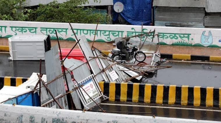 cyclone nisarga, cyclone nisarga in pune, cyclone nisarga deaths in pune, cyclone nisarga death toll in pune, cyclone nisarga damage, indian express news