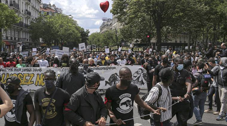 French protesters decry racism, other systemic injustices