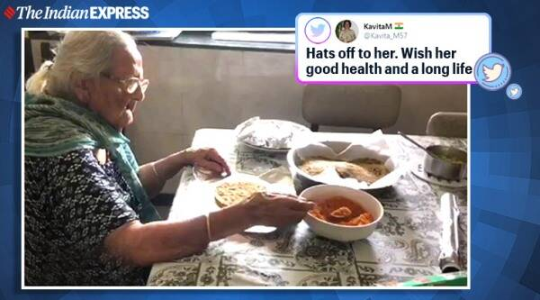 Zahid F. Ebrahim, 99-year-old food packets migrant workers, Mumbai, mumbai migrants, lockdown, covid-19. twitter, trending, indian express, indian express news