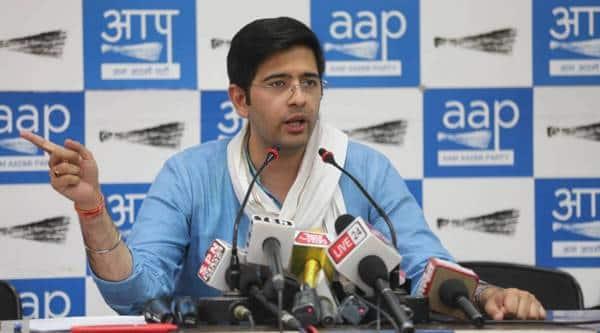 Raghav chadha, aap, aap on congress, aam aadmi party, rajasthan crisis, delhi news, indian express