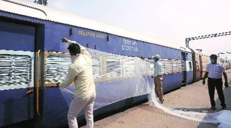 Doctor's cabin to mosquito nets: Anand Vihar rly station is readied for Covid care