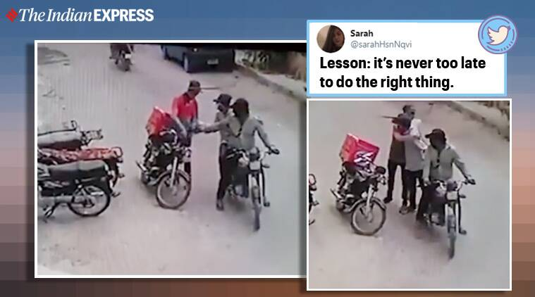 robbers Karachi return valuables delivery boy cctv footage, Pakistan, robbery, twitter reactions