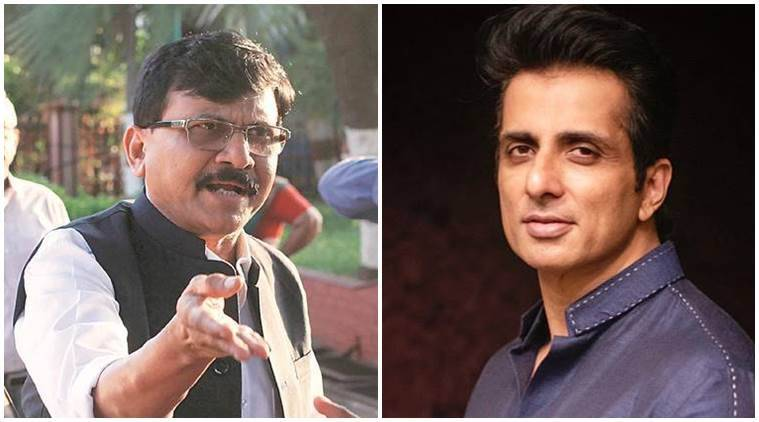 sonu sood, migrant workers, sonu sood buses for migrants, shiv sena attacks sonu sood, sanjay raut on son sood, bjp sonu sood, indian express
