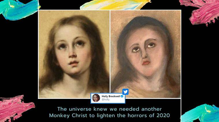 restoration fail, beast jesus, ecce homo, conservation, spain artwork restoration fail, Bartolomé Esteban Murillo, Murillo painting restoration fail, The Immaculate Conception, viral news, funny news