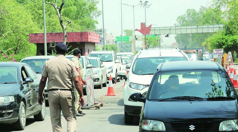 Coronavirus crisis, Chandigarh Administration, People entering Chandigarh, Chandigarh news, Indian express news