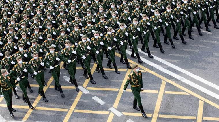 Victory Day, Victory Day parade, Victory Day parade moscow, rusia india china trilateral meet, India China, India China news, rajnath singh russia visit, india china border dispute, galwan faceoff, ladakh