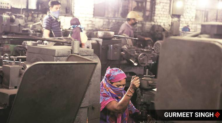 factory workers, industrial output