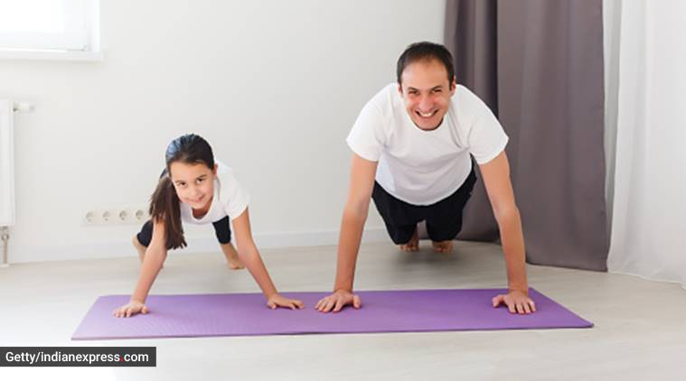 father's day, yoga with father