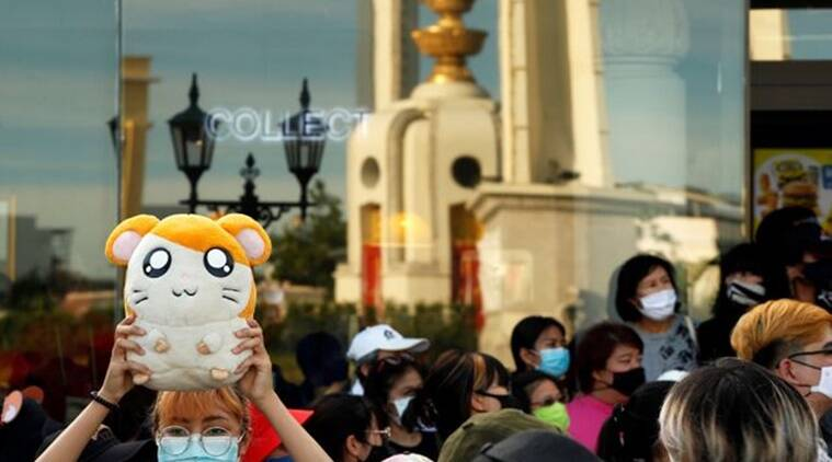 Bangkok, Bangkok protest, Japanese cartoon, Japanese cartoon  protest, Cartoon jingle protest, Thai protesters, Hamtaro, Japanese cartoon protest, Trending news, Indian Express news