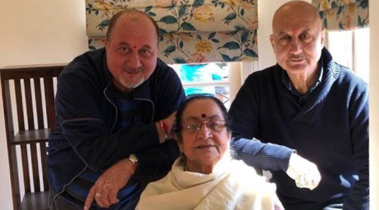 anupam kher mother and brother coronavirus positive