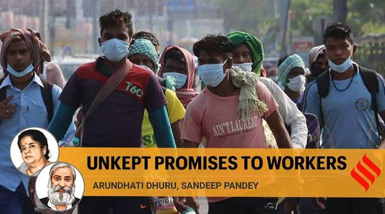 migrant workers, coronavirus lockdown, job opportunities, Job promise to migrant workers, Express opinion, Yogi Adityanath,
