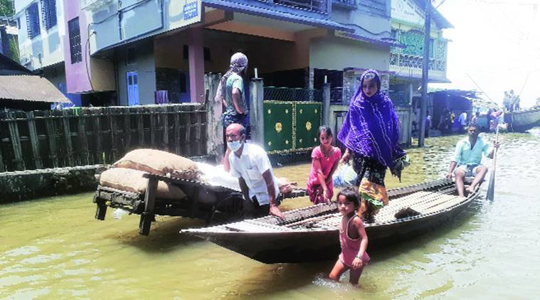 Assam farmers, Coronavirus lockdown, Assam floods, Assam news, Indian express news